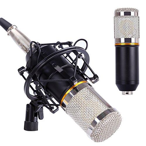 Micrófono de Condensador, CAHAYA Micrófono de grabación para radio