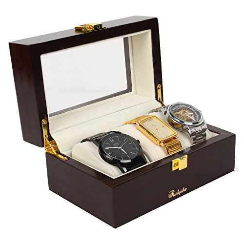 Richpiks Valentine's Day gift wooden polished watch Box for three watches