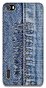 The Racoon Grip Denim Zigzag hard plastic printed back case / cover for Huawei Honor 6