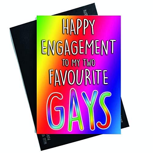 ten Homosexuell Verlobung Karten Friend Karten Happy Verlobung To My Zwei Bevorzugte Gays Lustig Karten Gay Pride Congrats Karte PC550 ()