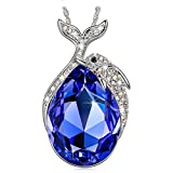Kate Lynn Dolphin Fairy Necklace Pendant for Women Blue Crystals SWAROVSKI Jewellery Gifts Gift for Her Ladies Girlfriend Wife Mum Mother Grandma