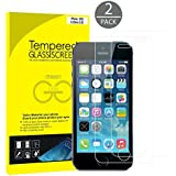 JETech® 2-Pack iPhone SE 5 5S 5C Premium Tempered Glass Screen Protector Film