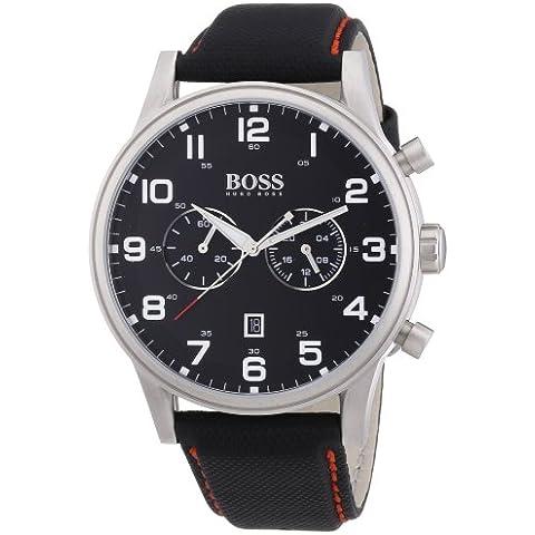 Hugo Boss  1512919 - Reloj de cuarzo para hombre, con correa de cuero, color negro