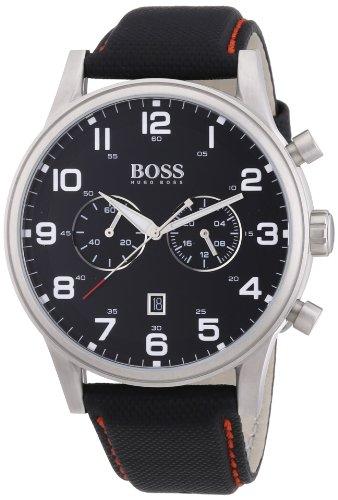 Hugo Boss Herren-Armbanduhr Analog Quarz Leder 1512919