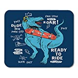 Mouse Pads Fun Skate Skater Dinosaur with Slogans and Other Uses Animal Kids Mouse Pad 7.08 (L)x 8.66 (W) inch for Notebooks,Desktop Computers Mouse Mats, Office Supplies