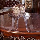 Magilona Home Runde, wasserdichte PVC-Tischdecke, 1,5mm dick, Schutz für Tisch und Schreibtisch, Tischauflage mit Hitzeschutz, individuelle Größe, farblos, 32 Inch(80cm)