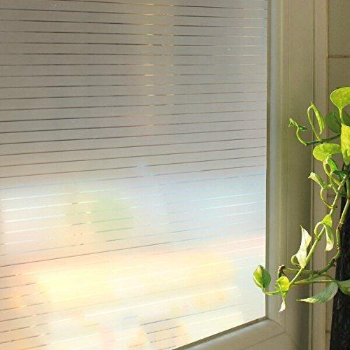 Lifetree 028 Sichtschutzfolie Büro Fensterfolie Nadelstreifen statisch haftend 90 * 200cm