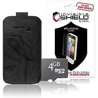 invisibleSHIELD Bundle für HTC Legend Gripis inkl. Gripis Ledertasche, 4GB Speicherkarte, Displayschutz