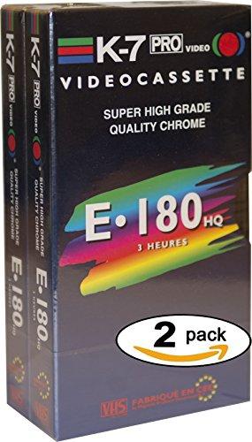 VHS Leermedien K7 Videokassetten 180 min High Quality Quality Chrome (x 2) MADE IN EUROPE