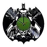 Life is life Horloge Murale Disque Vinyle Moderne avec Motif Batman Legend-Unique Home Décoration Murale ou au Bureau-Idée Cadeau Original pour Homme et Femme-Exclusif Comics Fan Art