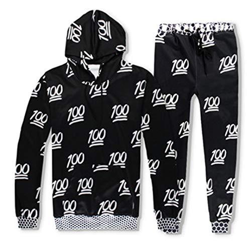 Vieryyes Lustige 100 Druck 3D TrainingsanzüGe MäNner Womens AnzüGe Unisex Sweatshirts Hoody + Hose Sets Black Suits XXL Jordan Womens Sweatshirt