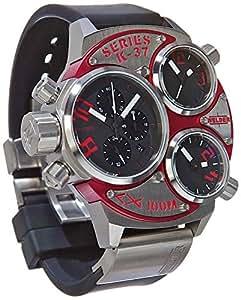 Welder - K37-6500 - Montre Homme - Quartz - Chronographe - Bracelet Caoutchouc Noir