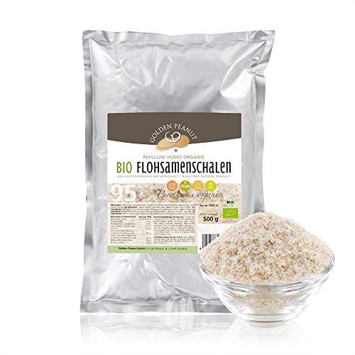 Bio Flohsamenschalen 95 prozentige Reinheit, höhste Quellzahl, getestet, allergenfrei, Glutenfrei, Vegan, keimreduziert, Low-Carb,2x 500 g,2x 0,5 kg