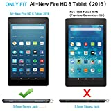 All-New Fire HD 8 Case, J&D Amazon All-New Fire HD 8 Tablet Smart Cover Slim Lightweight Protective Folding Case for Fire HD 8 (2016 Release, 6th Generation) - Cupcake