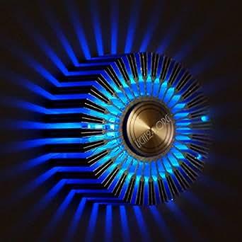 led wandstrahler stripes flurlampe blau wandleuchte design strahler flurleuchte badlampe 5 7. Black Bedroom Furniture Sets. Home Design Ideas