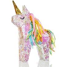 Lumaland Piñata para Rellenar Unicornio mágico con Efecto Glitter Aprox 40 ...