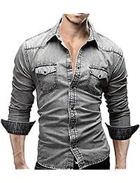 Camicia da Uomo,CLOOM in Puro Cotone Mercerizzato, Stile