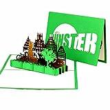3d Pop Up Münster–Biglietto d' auguri Münster–münsterland, Bicicletta Slot, Viaggio Buono, Città Trip & bici Tour Münster, fatti a mano regalo di carta