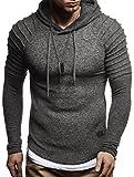 LEIF NELSON Herren Hoodie Pullover Kapuzenpullover T-Shirt Longsleeve Sweatshirt Hoody Sweatshirt Sweater LN8152