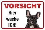 Schild - Vorsicht Französische Bulldogge