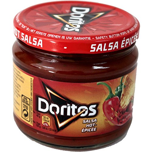 Doritos Nacho Chips Dip Sauce Hot Salsa 326g Glas