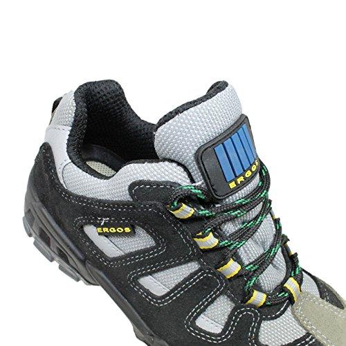 Indiana Ergos S1P SRC protagonista, scarpe, scarpe, al lavoro o il lavoro scarpe, un'altezza B-Ware Nero (nero)