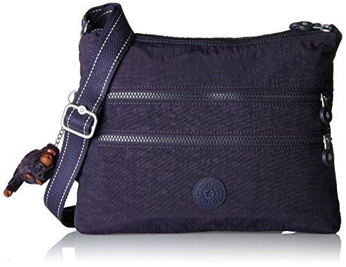 Kipling Damen Alvar Umhängetasche, Violett (Blue Purple C), 33x26x4.5 cm (Pocket Tote Zip)