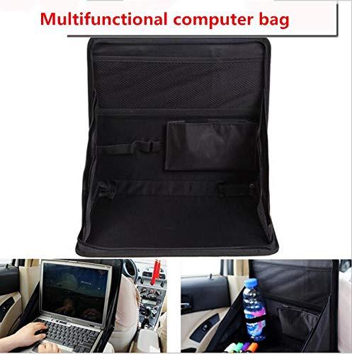 XuBa Klapptisch Auto Rücksitz Aufbewahrungstasche Organizer DVD Laptop Halter Tablett Reisetasche (Rücksitz Laptophalter)