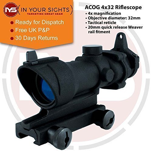 In Your Sights Acog Style 4x32 Taktisch Gewehr Umfang -