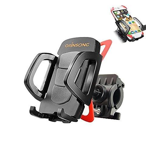Fahrradhalterung Halter, Orinsong Universal Fahrrad Handyhalterung für iOS Android Smartphone GPS andere Geräte, mit Ein-Klick Funtion, 360 Grad drehbar,
