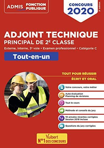 Concours Adjoint technique principal de 2e classe - Catégorie C - Tout-en-un : Concours externe, interne et 3e voie, et examen professionnel 2020 par  Bellego Olivier