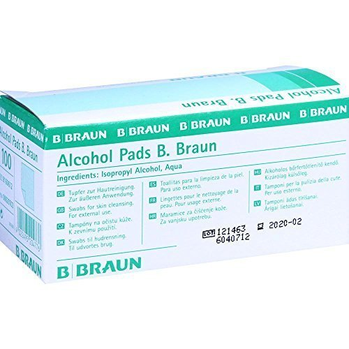 B Braun Alcohol Pads, 1er Pack, (1 x 100 Stück)