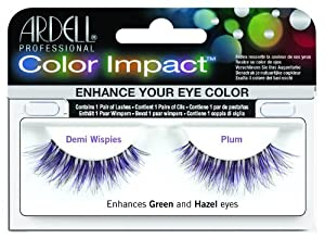 Ardell Color Impact Lash False Eyelashes - Demi Wispies Plum (Pack of 4) by Ardell