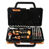 Juego de Destornilladores Screwdriver Sets Juego de destornilladores 31 en 1 Destornillador de trinquete para electrodomésticos, Reparación de automóviles