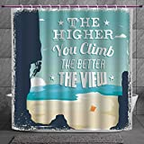 Best Climbs - Funky Shower Curtain 2.0 [ Quote,The Higher You Review