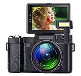 Digital Camera Camcorder Full HD 1080P 24 Megapixels Vlogging Camera 4X Digital Zoom