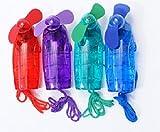 Tragbarer Mini Ventilator Taschenventilator Handventilator mit Umhängeband (1, Rot)