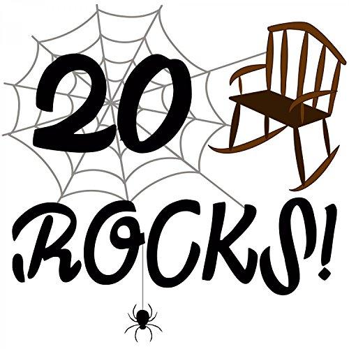 20 rocks! - Herren T-Shirt von Fashionalarm | Geschenk zum 20. Geburtstag Jubiläum Weiß
