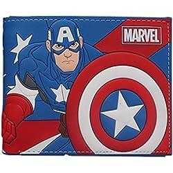Cartera Billetera de Capitan América Marvel Azul Silicona