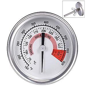 Ecloud Shop Barbacoa BBQ Pit Smoker Grill Termómetro Medidor de temperatura, Cocinar BBQ Probe Thermometer (75 ° C a 300…