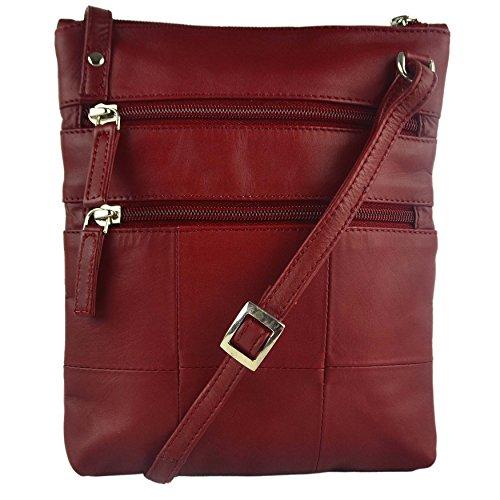 Visconti - borsa a tracolla in pelle 18606 Rosso (rosso)