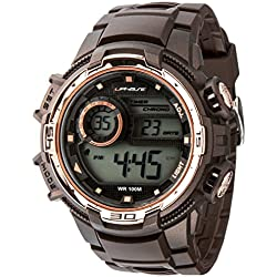 UphasE Unisex Analogue Watch with Brown Dial Analog - Digital Display - UP705-130