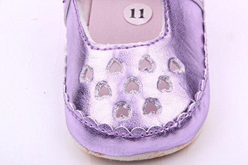 Bigood Loch Muster Leder Baby Mädchen Schuh Lauflernschuhe Krabbelschuhe Violett
