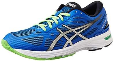 ASICS Men's Gel-Ds Trainer 20 Blue, Silver and Black Mesh Running Shoes - 13 UK