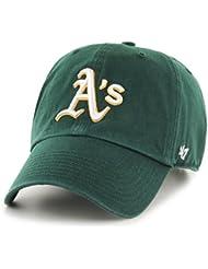 47 Brand Clean Up Oakland A´s Cap Strapback Basecap Baseballcap Athletics MLB Kappe Basecap Cap Strapback Cap Metallschnalle