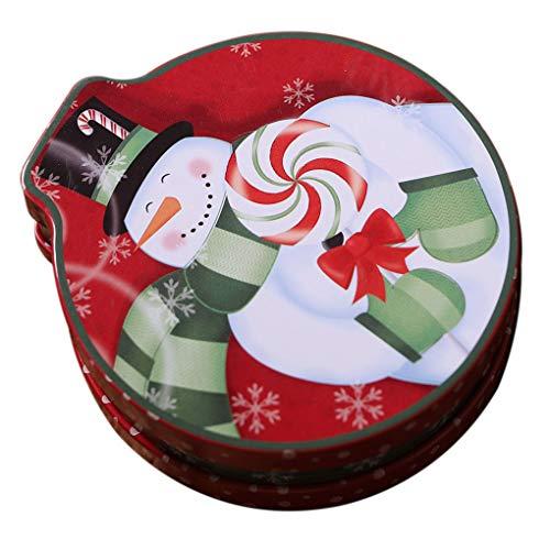 Laileya Weihnachtsbaum Embossing Tinplate Box hängenden Seil Süßigkeit Container Weihnachten Kinder Geschenk Organizer Keks-Plätzchen Münzen -speicherung kann -