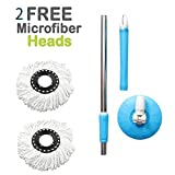 #10: ALLWIN's Mop Rod Stick Stainless Steel with Plate and Microfiber Mop Stick & 1 Mop Head Mop 360° Rotate S.S Rod Pocha