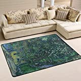 YYERINX Van Gogh The Garden Polyester Shoes Scraper Carpet Area Rug Entry Way Doormat Multipattern Door Mat Floor Mats Home Dec Anti-Slip Indoor/Outdoor