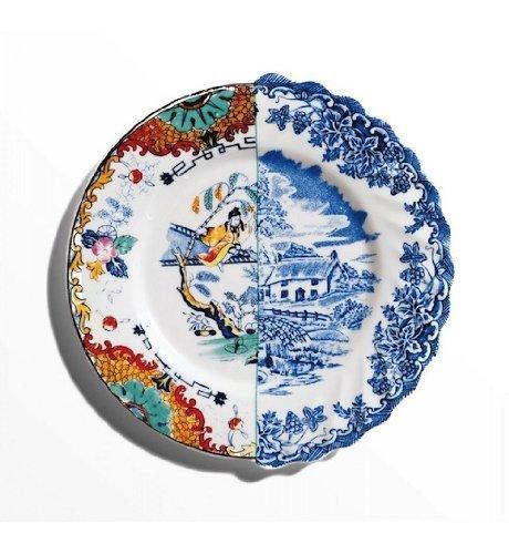 SELETTI 'Assiette de Fruits en Porcelaine ø cm.20 H.1,6 Hybrid-valdrada