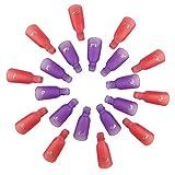 Tomkity 20 Pezzi Clip per Rimozione Smalto Semipermanente Plastica Unghie Wrap Strumento Nail Art acrilico si impregna fuori clip in gel UV rimozione di Pulizia